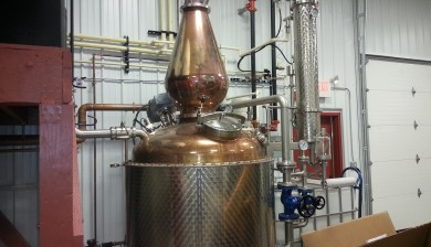 commercial distillery plumbing